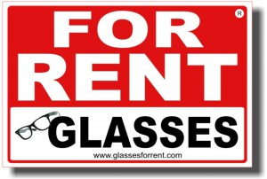 FOR RENT GLASSES