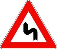curva pericolosa a sinistra